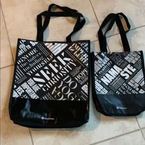 2 new Lululemon one large one small bags